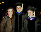 Luisa, my Advisor (Dr. Renee D. Diehl) and I after the ceremony. Penn State 2005